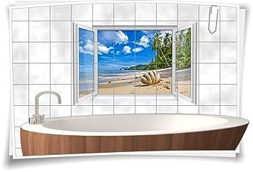 Fliesenaufkleber Fliesenbild Fliesen Sand Strand Muschel Strand ...