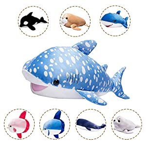 LALA HOME 28'' Whale Shark Plush | Large Stuffed Animal | Neat Soft Shark Toy | Gaint Body Pillow