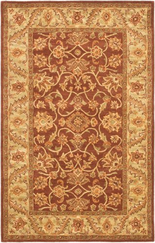 Safavieh Golden Jaipur Collection GJ250E Handmade Rust and Green Premium Wool Area Rug (2' x 3')