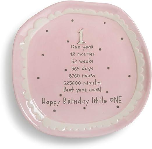 Amazon.com: Demdaco Baby s 1st tarta de cumpleaños rosa ...