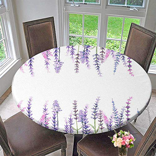 Chateau Easy-Care Cloth Tablecloth Collection Lavender Plants Aromatic Evergreen Shrub of The Mint Family Nature Oils Country for Home, Party, Wedding 31.5