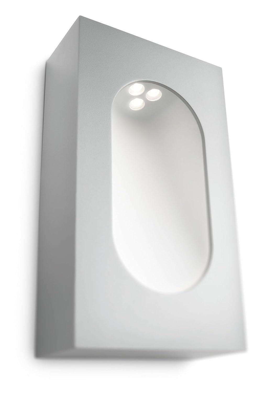Philips 168168716 Auß enwandleuchte, Integriert, Aluminium, silber, 13,4 x 6,8 x 23,5 cm 168168716_Grigio