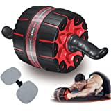 Fixdono Wide Ab Roller Wheel for Abs Workouts, 9 inch Ab Wheel Exercise Equipment with Knee Mat for Home Gym Abdominal…