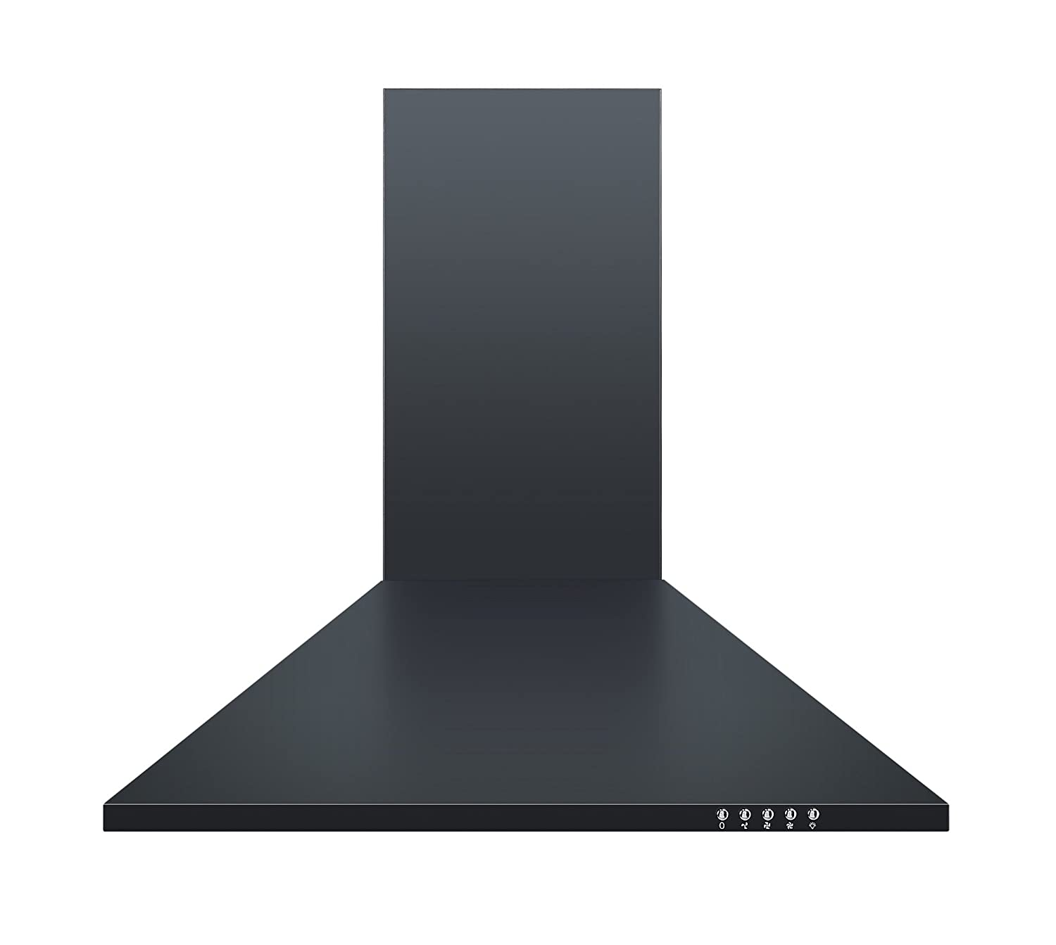 Cookology CH600BK 60cm Chimney Cooker Hood in Black | Unbranded Kitchen Extractor Fan [Energy Class C]