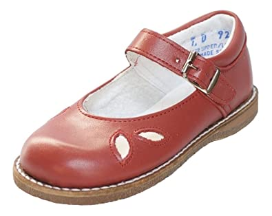 3f26bd5095d3 Amilio Toddler s Girl s Leather Dress Shoe Mary Jane - Party - Medium Width  in