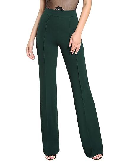 Shein Women S Casual Stretchy High Waist Wide Leg Dress Pants At