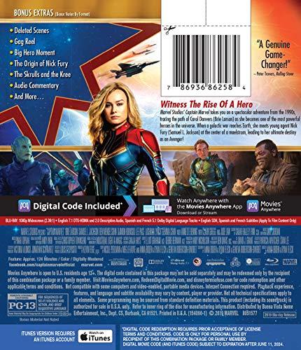 Captain Marvel [Includes Digital Copy] [Blu-ray] [2019]