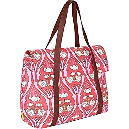 Amy Butler Harmony Laptop Tote,Passion Lily Tangerine,one size