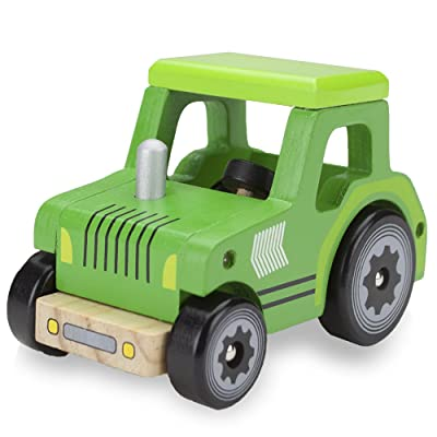 Wooden Wheels Natural Beech Wood Tractor by Imagination Generation: Toys & Games