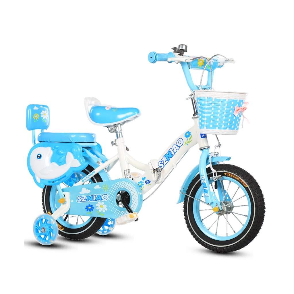 Kinderfahrräder Einräder Fahrrad, Falten Kinder Fahrrad Kind Sport Fahrrad 2-8 Jahr altes Kind Balance Fahrrad Outdoor Portable Fahrrad Reisen Falten Fahrrad (Farbe   Blau, Größe   12in)