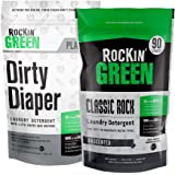 Rockin' Green Sweet Child of Mine Bundle with Dirty Diaper and Unscented Classic Rock Powder Laundry Detergents, 45oz bags