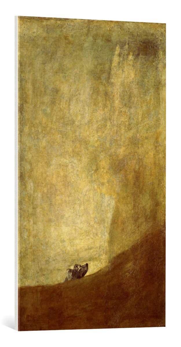 Kunst für alle Leinwandbild  Francisco Jose de Goya y Lucientes F Goya Hund - hochwertiger Druck, Leinwand auf Keilrahmen, Bild fertig zum Aufhängen, 55x95 cm