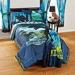 New! Jurassic Dinosaur World 5 Piece Full Comforter Sheet Set Bedding
