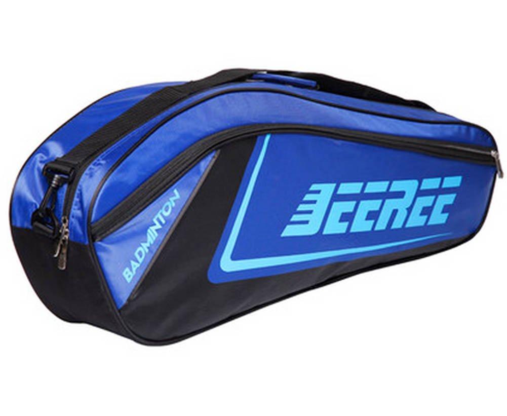 Borsa Tracolla Regolabile da Tennis con Racchetta da Badminton (6 Racchetta), Blu Blancho Bedding