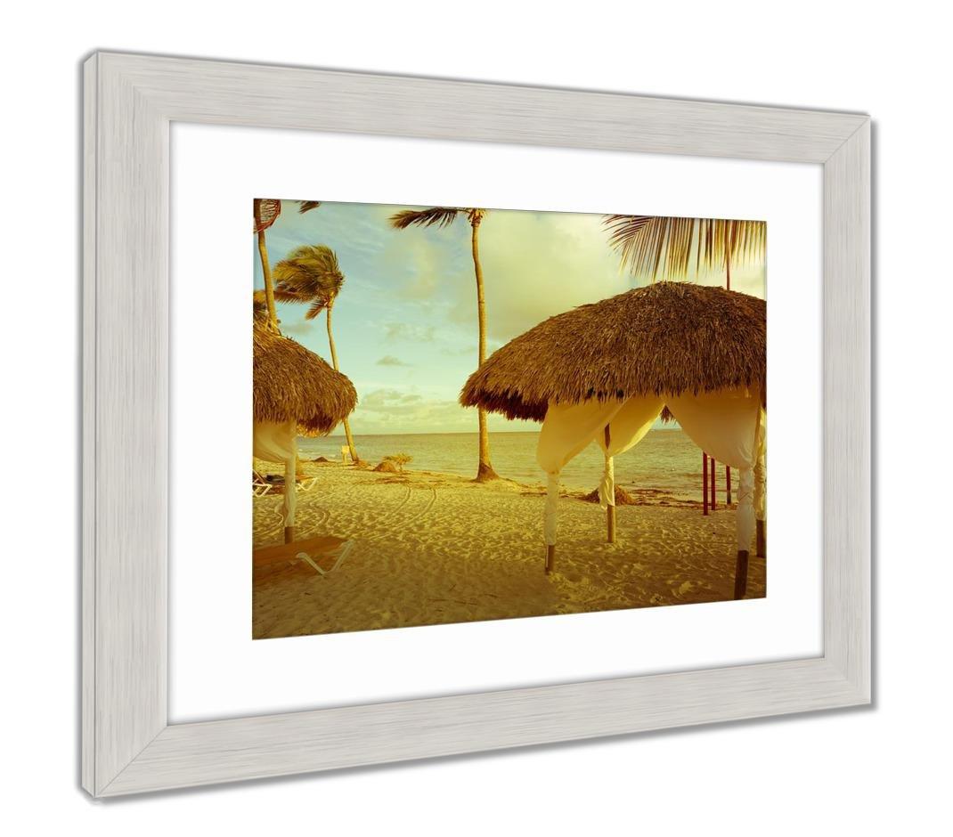 Amazon.com: Ashley Framed Prints Art Retro Image of Tropical Beach ...