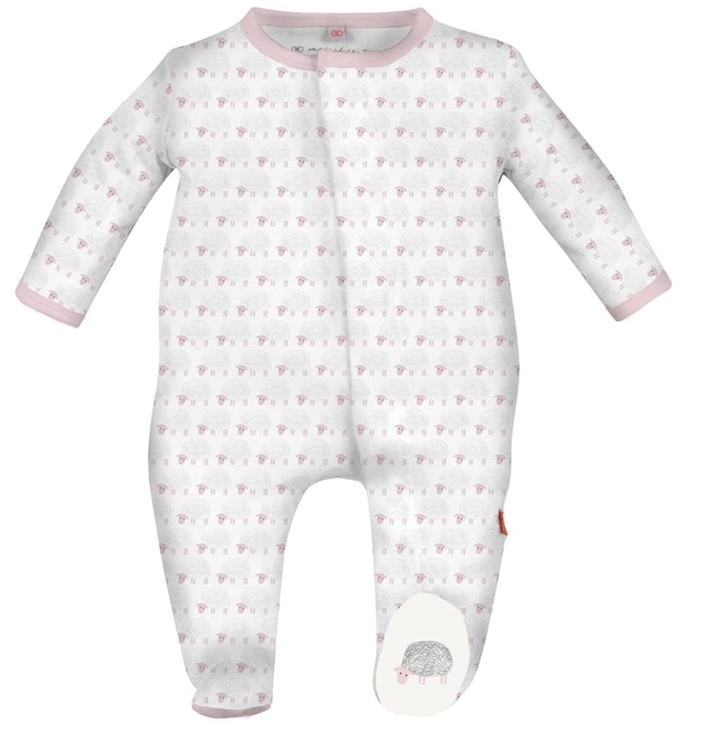 Amazon Magnificent Baby Magnetic Me Baby Footie 6 months Pink