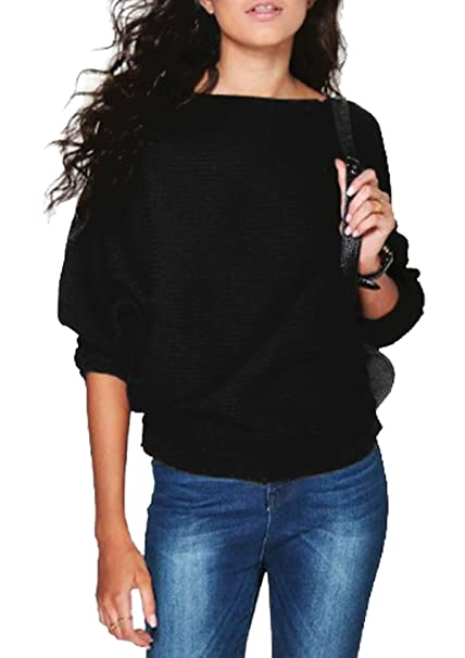 Womens Ladies Oversized Jumper Sweater Pullover Chunky Knit Sweatshirt Top 8-14