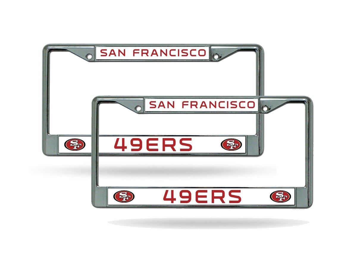 Amazon.com: San Francisco 49ers Chrome License Plate Frame - Set of ...