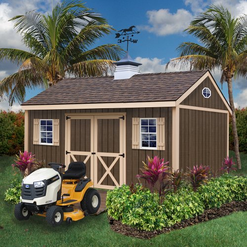 Best Barns Brookfield 12' X 16' Wood Shed Kit (16' Storage Building Kit)
