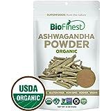 Biofinest Ashwagandha Root Powder (Indian Ginseng) - 100% Pure Freeze-Dried Antioxidant Superfood - USDA Organic Vegan Raw Non-GMO - Boost Stamina - For Smoothie Beverage Blend (4 oz Resealable Bag)