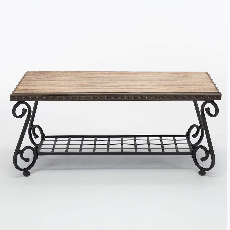Amazon Com Walcut Wood Top Steel Metal Frame Coffee Tea Side