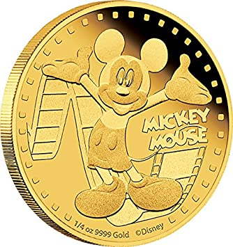 Set of 6 coin NIUE 2 dollar 2015 Mickey mouse and friends coins in a metal box