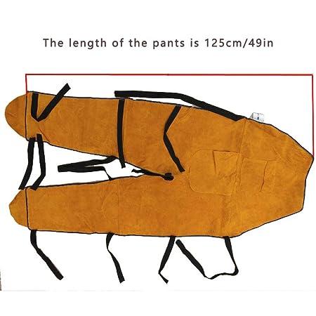 ZPL Pantalones de Soldadura de Piel de Vaca Pantalones Resistentes a Las Llamas/abrasión Soldador Rodilleras Polainas Pantalones de Trabajo Ropa Protectora, ...