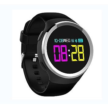 LIRONG Reloj Deportivo Inteligente, Contador De Pasos Impermeable Modo Deportivo Recordatorio Telefónico Ritmo Cardíaco Seguimiento