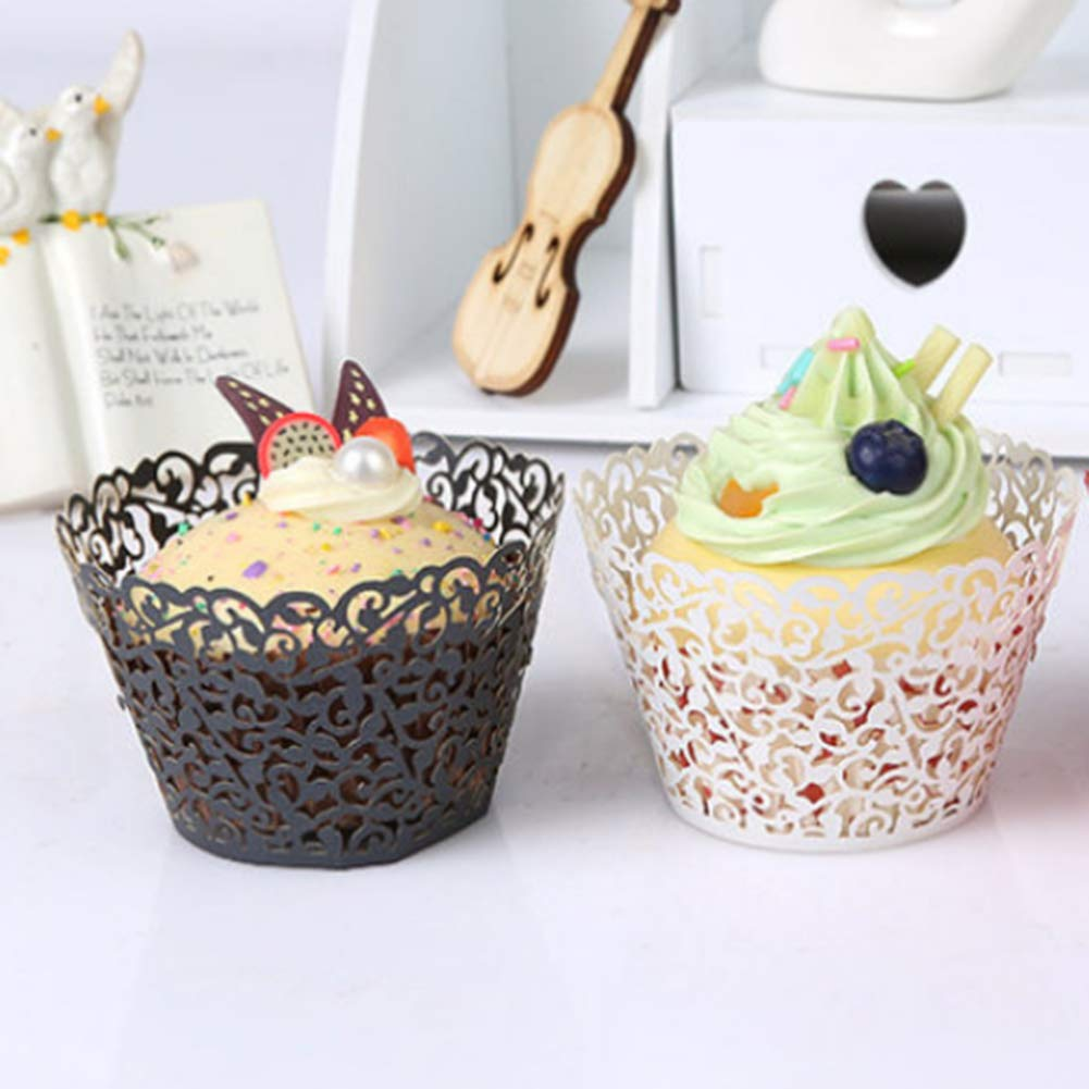 Cupcake Wrappers Artistic Bake Cake Paper Cups Baking Cup Cupcake Holders Wedding Party Birthday Decoration 150psc Set Include 50 Cupcake Muffin Paper Holders 100 Paper Baking Cup