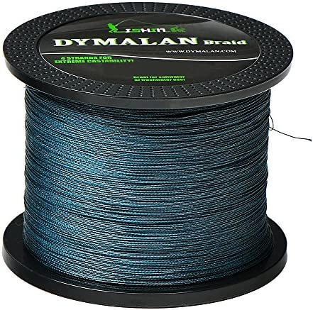 JIMEI Braided Fishing Line by DYMALAN 4-Strand Line, Abrasion Resistant PE Material for Durability, Zero Stretch Low Memory, Extra Thin Diameter, Suitable for Saltwater Freshwater