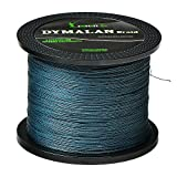 JIMEI Braided Fishing line 1000m/1094yds 10LB 4 Strands PE Braid Superline - Abrasion Resistance Fishing Line - Zero Stretch - Thinner Diameter for Saltwater & Fresh Water by DYMALAN