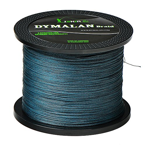 JIMEI Braided Fishing line Gray 1000m/1094yds 50LB 4 Strands PE Braid Superline - Abrasion Resistance Fishing Line - Zero Stretch - Thinner Diameter for Saltwater & Fresh Water by DYMALAN
