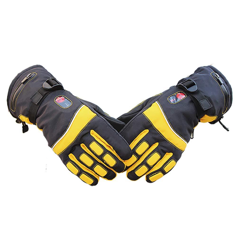 CNRGHS Elektrische Handschuhe, Außen Lithium-Batterie Heizung Handschuhe, Beidseitige Warmwasserdichte Ski-Handschuhe, Winter Smart-DREI-Gang-Thermostat Warme Handschuhe