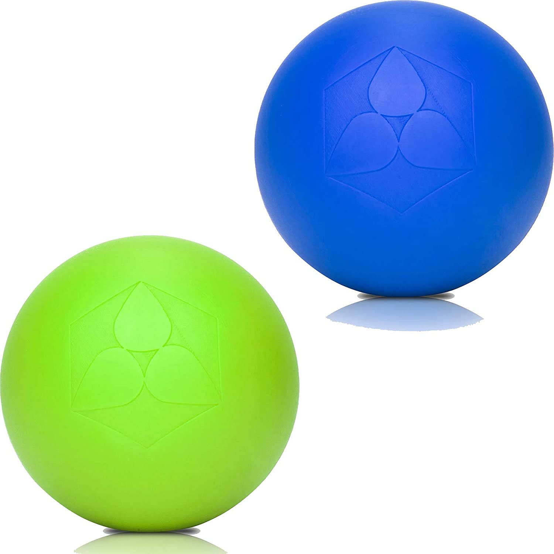 2x Lacrosse Bälle »Lio« (6cm Durchmesser) in vielen Farbkombination zur Massage von Triggerpunkten. Idealer Massageball / Massagerolle zur punktuellen Behandlung von Verspannung & Verhärtungen ähnlich dem Faszientraining (Faszienrolle bzw. Faszienball