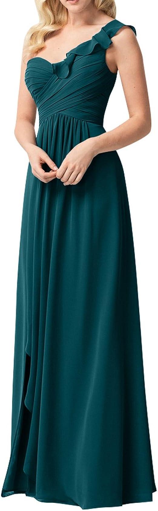 La_mia Brau EIN-Traeger Chiffon Abendkleider Brautjungfernkleider