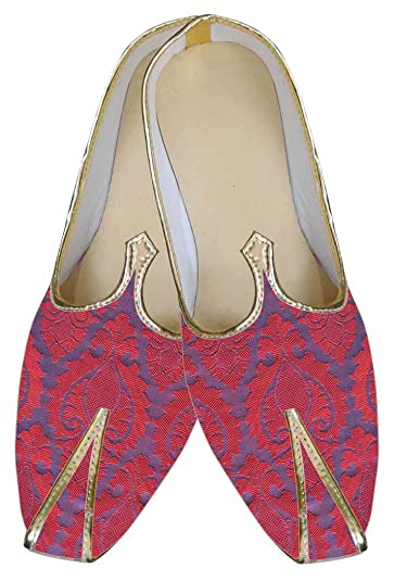 Mens Purple Indian Wedding Shoes MJ0079