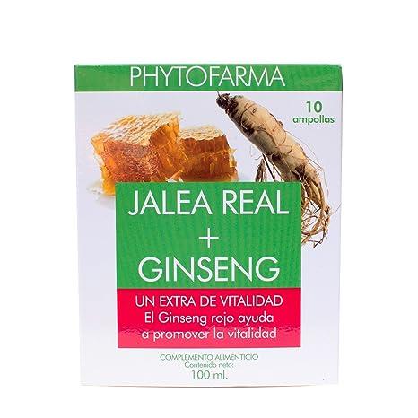 Phytofarma Jalea Real con Ginseng - Paquete de 2 x 10 Ampollas - Total: 20