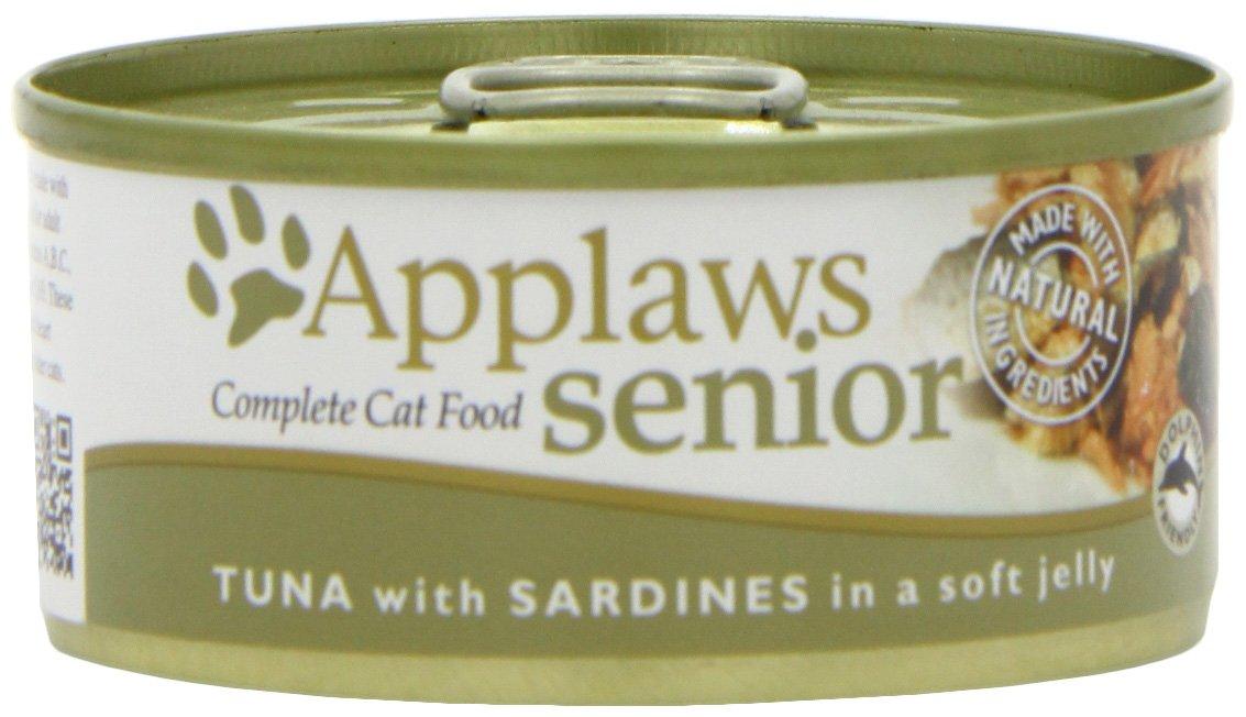 Applaws Douille de Senior Thon/Sardine en Gelée pour Chat 24 x 70 g