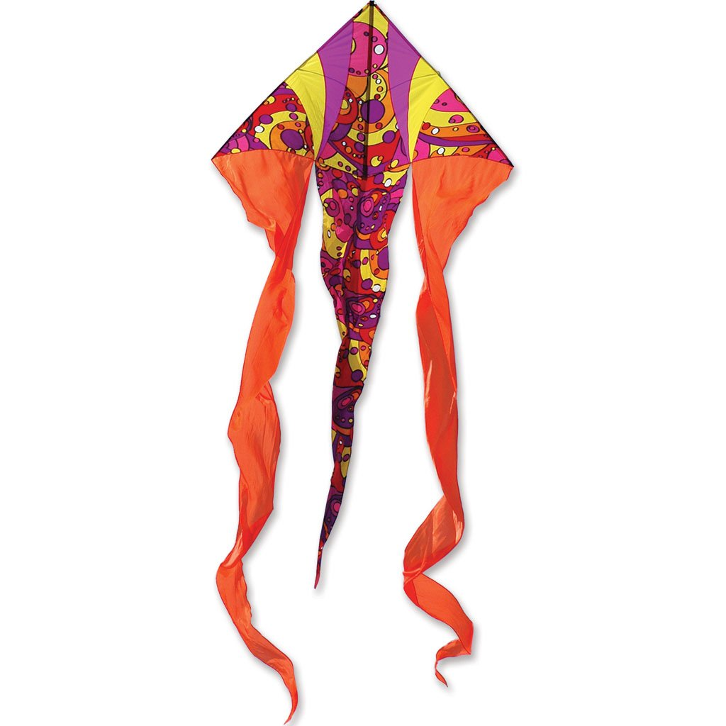 Premier Kites 6.5' Flo Tail Deltas- Warm Orbit by Premier Kites