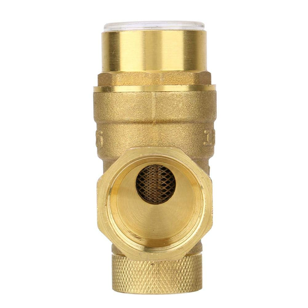 Pressure Reducing Valve, Water Control 1 inch Pressure Reducing Valve Brass Water Pressure Regulator with Gauge Meter by Keenso (Image #2)