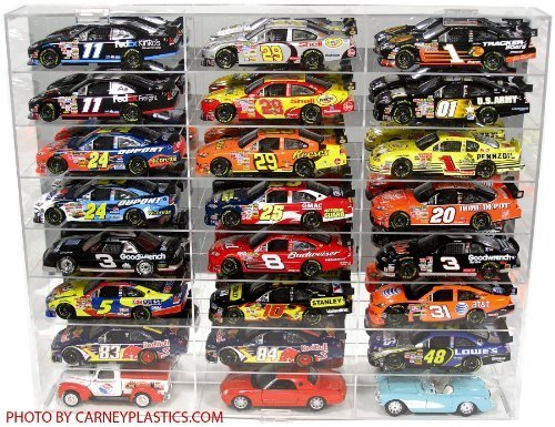 Nascar Diecast Model Car Display Case 1 24 Scale 24 Compartments