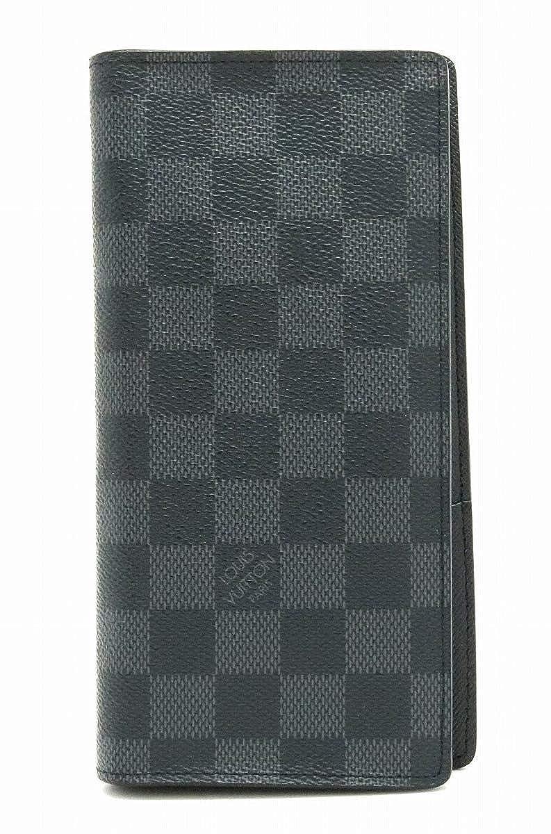 [ルイ ヴィトン] LOUIS VUITTON ダミエグラフィット ポルトフォイユ ブラザ 2つ折長財布 N62665 [中古] B07RX2RLHZ