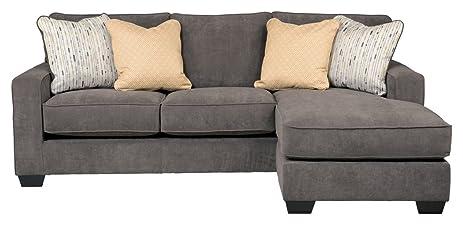 Amazoncom Ashley Hodan 7970018 93Inch Sofa Chaise with Pillows