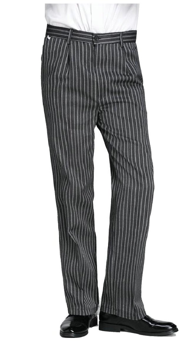 xtsrkbg Men's Classic Unisex Hotel/Kitchen Uniform Traditional Chef Pants 1 33