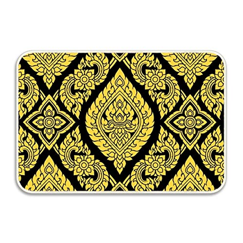yyoungsell Thai Pattern Entrance Rug Rubber Floor Mats Washable Doormat Shoe Scraper For Home by yyoungsell