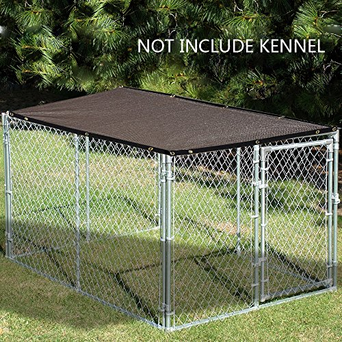 ALION HOME Sun Block Dog Run & Pet Kennel Shade Cover (Dog Kennel not Included) (10 x 5, Mocha Brown)
