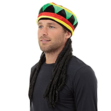Rasta Hat With Hair (Hats) - Unisex - One Size (peluca)
