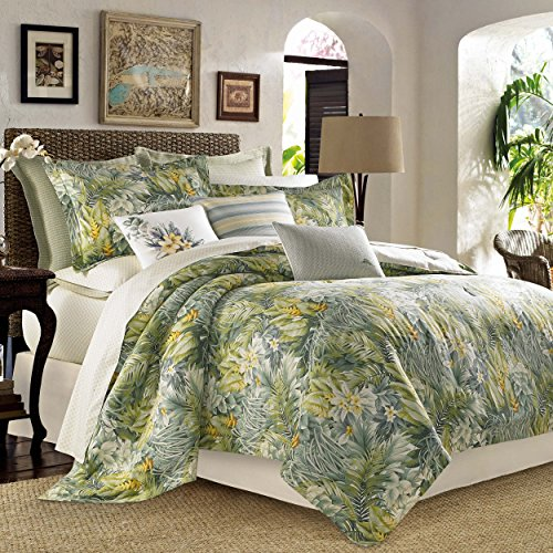 Tommy Bahama Cuba Cabana Comforter Set, King, Green ()