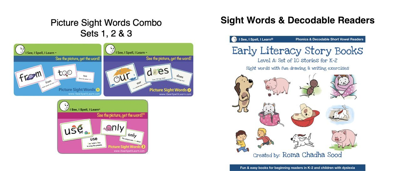 I See, I Spell, I Learn® - Picture Sight Words Flashcards & Sight Words Readers Combo