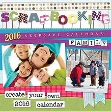 Scrapbooking 2016 Square 12x12 Wall Calendar